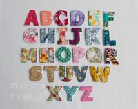 Fabric Alphabet Letters, Upper Case, English