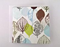 Fabric Greeting Card - Falling Leaves