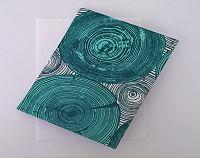 Fabric Covered Card - Turquoise Geo