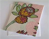 Fabric Floral Greeting Card - Protea