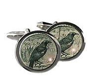 Tui New Zealand Postage Stamp Cufflinks Round