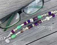 Eyeglass Chain/Holder - Hand Beaded