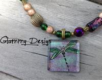 Dragonflying Glass Pendant