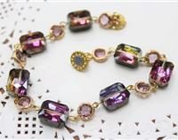 Sparkling Purple Rainbow Bracelet