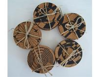 Handprinted Cork Coasters