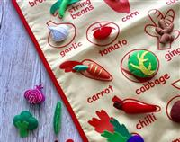 VEGETABLE FABRIC WALL CHART