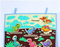 DINOSAUR FABRIC WALL CHART