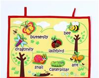 INSECTS FABRIC WALL CHART