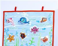 SEA CREATURES WALL FABRIC CHART