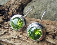 Silver Peridot Earrings - Green is Gorgeous!