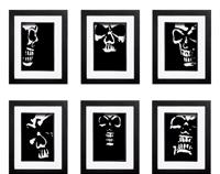 Gothic Skull Collection - 6 x Signed Prints