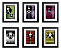 Skulls & Stripes Collection - 6 x Signed Prints
