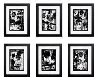 Grunge Skull Collection - 6 x Signed Prints