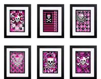 Girly Skull Collection - 6 x Signed Prints