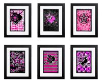 Pink Star Collection - 6 x Signed Prints