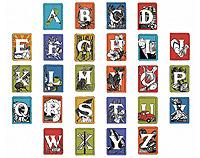 NZ Alphabet - Individual Tablet Mounted prints