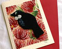 Tui finger puppet card