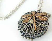 FunkyGlam Locket - Dragonfly Diva
