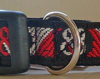 Tiki Jacquard Dog Collar.