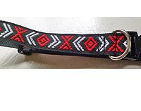 Chevron Jacquard Dog Collar - Black or Red