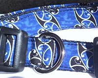 Blue Koru Fabric Dog Collar