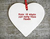 Home is where you hang this Heart Decoration