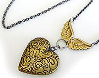Brass Winged Locket