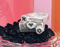 Black stacker rings