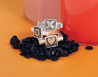 Black tile rings