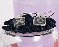 Black Tile Earrings