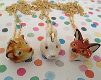 Woodland Animal Necklaces