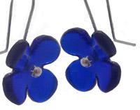Hydrangea Flower Recycled Glass Earrings