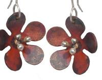 Daisy Earrings-Copper
