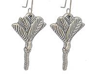 Nikau Silver Earrings