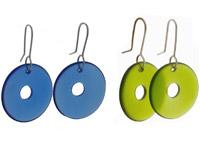 Concave Disc Earrings