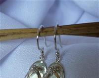 Sterling silver jandal earrings - a piece of NZ