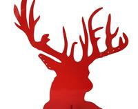 Stag Jewellery Stand Red