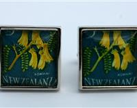 Kowhai New Zealand  Postage Stamp Cufflinks