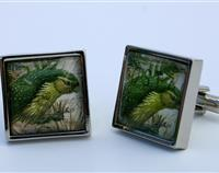 Kakapo 1986 New Zealand Postage Stamp cufflinks