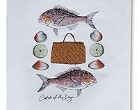 Catch of the Day - Tea Towel