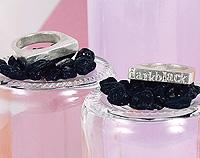 Silver darkblack stacker ring